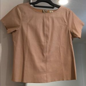 DL1961 100% leather light pink tee